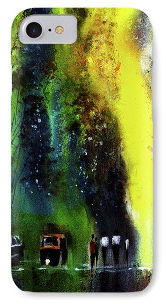 Rainy Evening IPhone Case by Anil Nene