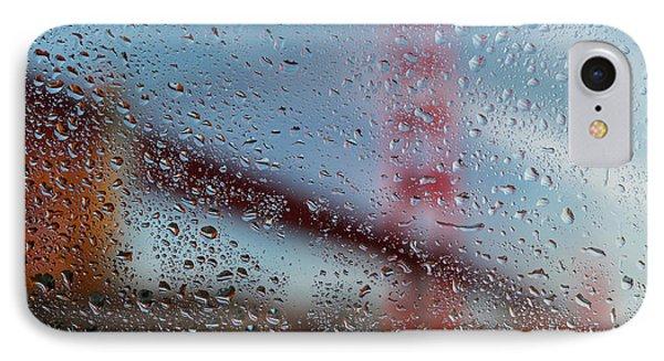 Rainy Golden Gate IPhone Case by Steve Gadomski