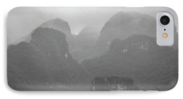 IPhone 7 Case featuring the photograph Rainy Ha Long Bay, Ha Long, 2014 by Hitendra SINKAR