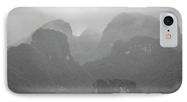 IPhone Case featuring the photograph Rainy Ha Long Bay, Ha Long, 2014 by Hitendra SINKAR