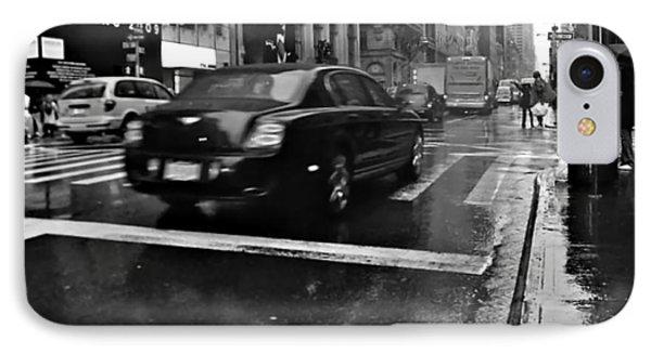 Rainy New York Day IPhone Case by Vannetta Ferguson