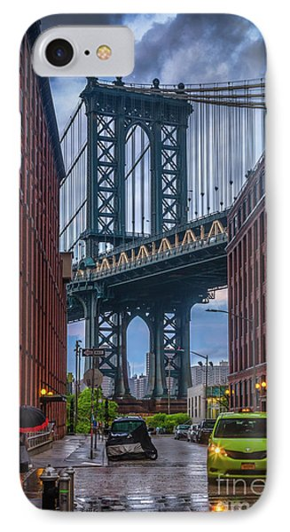 Rainy Night In Brooklyn IPhone Case by Inge Johnsson