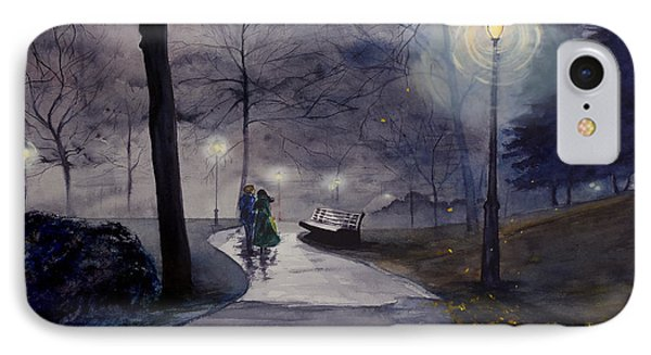 Rainy Night In Central Park IPhone Case
