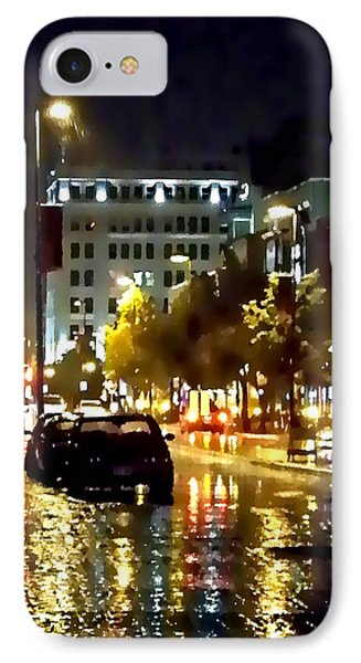 Rainy Night In Green Bay IPhone Case by Lauren Radke