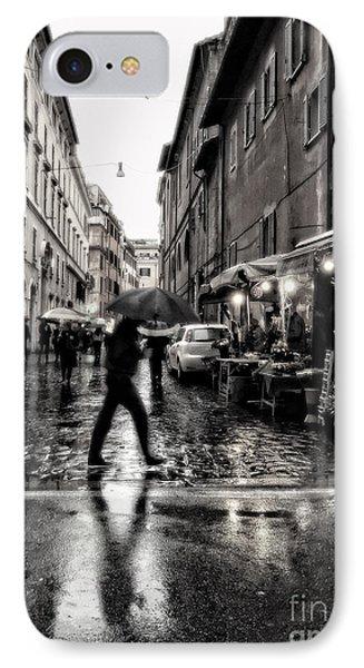 rainy night in Rome IPhone Case