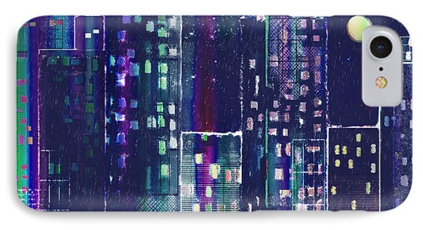 Rainy Night In The City Phone Case by Arline Wagner