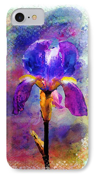 Rainy Weekend Iris IPhone Case by Moon Stumpp