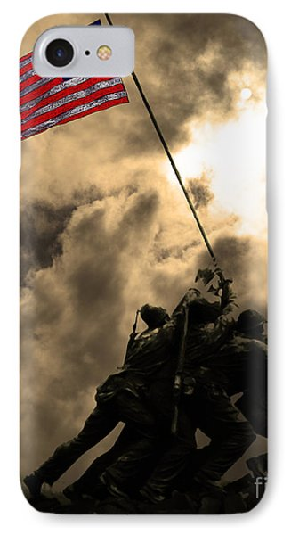 Raising The Flag At Iwo Jima 20130211 IPhone Case by Home Decor