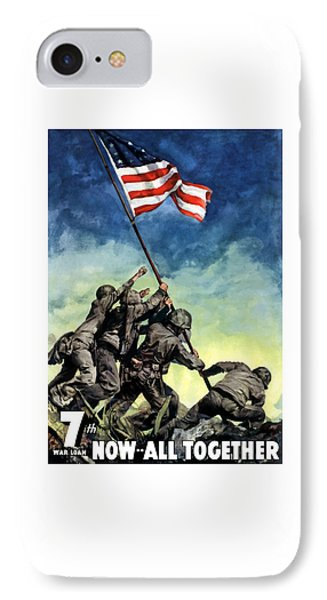Raising The Flag On Iwo Jima IPhone Case