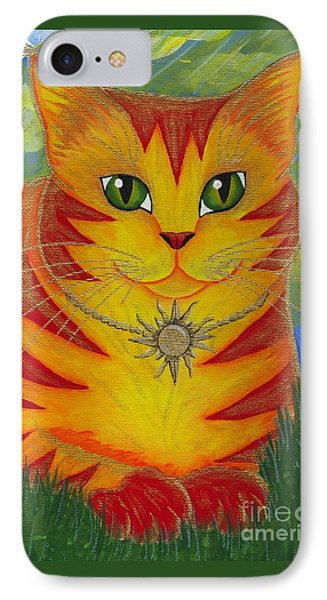 Rajah Golden Sun Cat IPhone Case