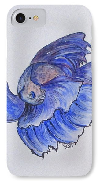 Ralphi, Betta Fish IPhone Case by Clyde J Kell