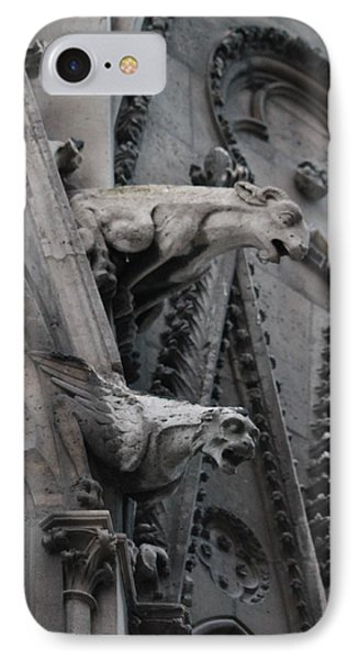 IPhone Case featuring the photograph Ram And Eagle Griffon Notre Dame by Christopher Kirby