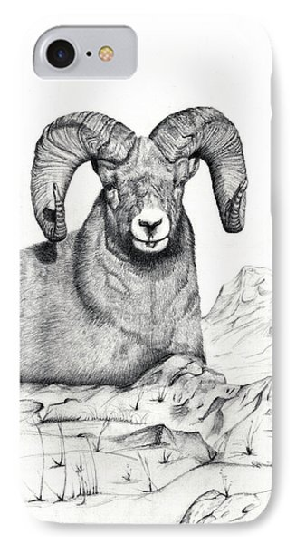 IPhone Case featuring the drawing Ram by Mayhem Mediums