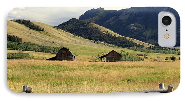 Ranch Along Tom Miner Road Phone Case by Marty Koch