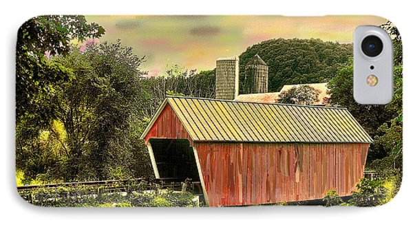 Randolf Covered Bridge IPhone Case by John Selmer Sr