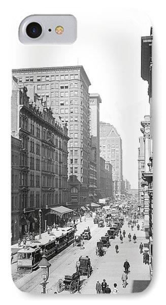 Randolph Street Chicago 1900 IPhone Case