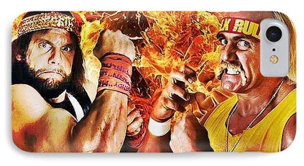 Randy Savage Vs Hulk Hogan IPhone Case