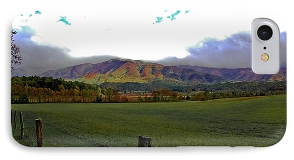 Range Neath The Mountain Phone Case by DigiArt Diaries by Vicky B Fuller