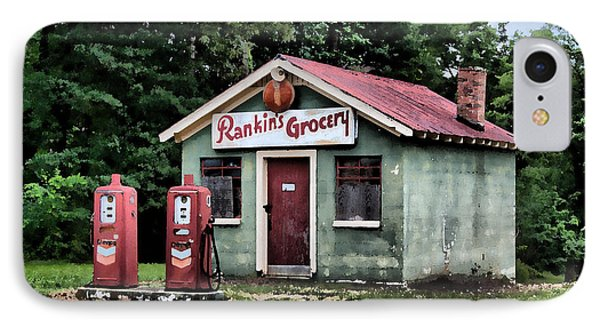 IPhone Case featuring the painting Rankins Grocery In Watercolor by Lynne Jenkins