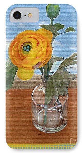 IPhone Case featuring the digital art Ranunculus Spring by Alexis Rotella