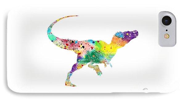 Raptor 2 Dinosaur Watercolor IPhone Case by Svetla Tancheva