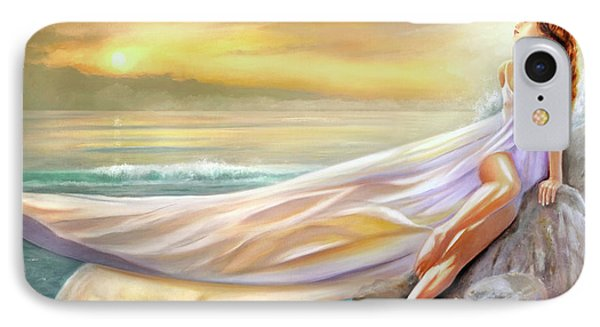 Rapture In Midst Of The Sea IPhone Case by Michael Rock