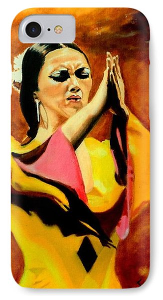 Raquel Heredia - Flamenco Dancer IPhone Case by Manuel Sanchez
