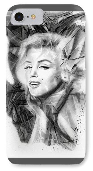 Rare Gem - Marilyn Monroe IPhone Case by Michael George Escolano