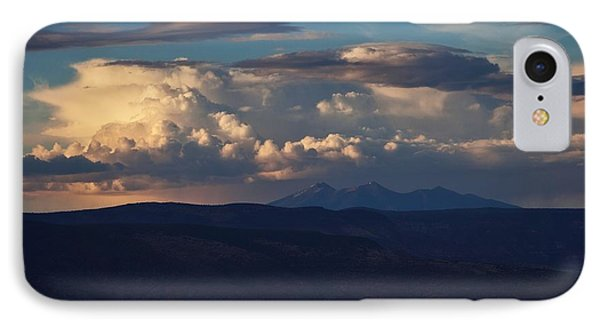 IPhone Case featuring the photograph Rare June Storm Glow San Francisco Peaks by Ron Chilston