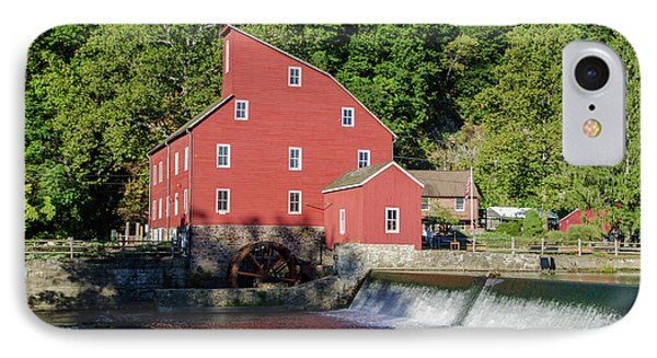 Rariton River And The Red Mill - Clinton New Jersey IPhone Case by Bill Cannon