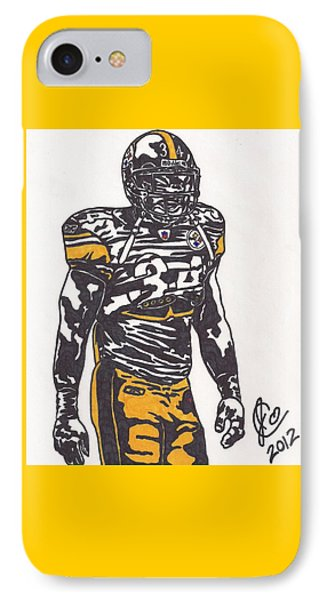 IPhone Case featuring the drawing Rashard Mendenhall 2 by Jeremiah Colley