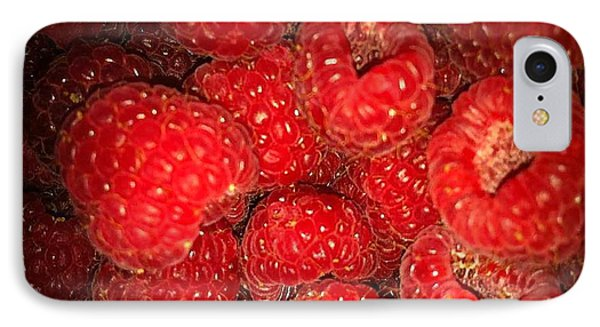 Raspberries IPhone Case by Sylvie Leandre