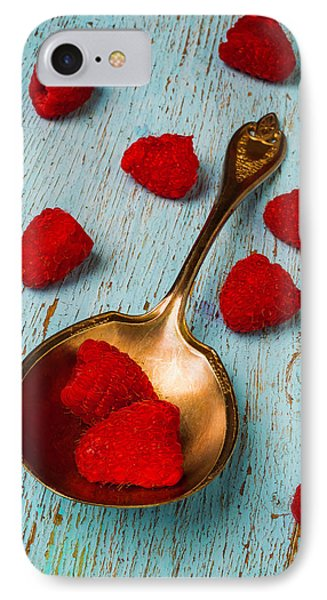 Raspberries With Antique Spoon IPhone 7 Case