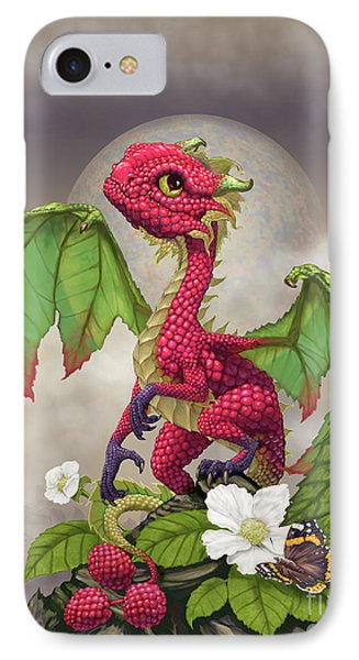 IPhone Case featuring the digital art Raspberry Dragon by Stanley Morrison