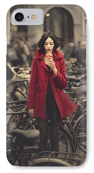 Raspberry iPhone 7 Case - raspberry sorbet in Amsterdam by Anka Zhuravleva