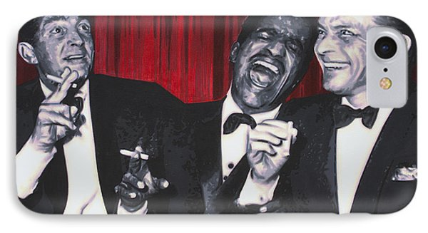 IPhone Case featuring the painting Rat Pack by Luis Ludzska