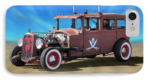 IPhone Case featuring the photograph Rat Rod On Beach 3 by Mike McGlothlen