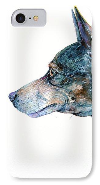 IPhone Case featuring the painting Rat Terrier by Zaira Dzhaubaeva