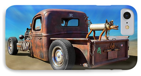 IPhone Case featuring the photograph Rat Truck On Beach 2 by Mike McGlothlen