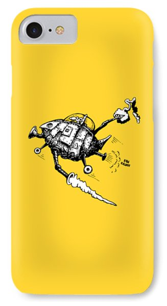 Rats In Space IPhone Case by Kim Gauge