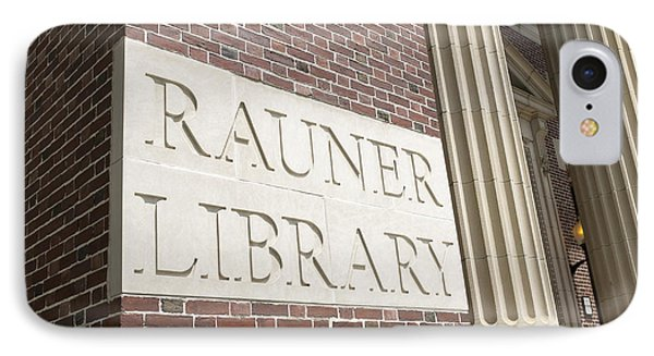 Rauner Library Dartmouth College IPhone Case by Edward Fielding