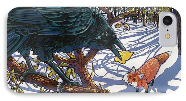 Raven And The Fox IPhone Case