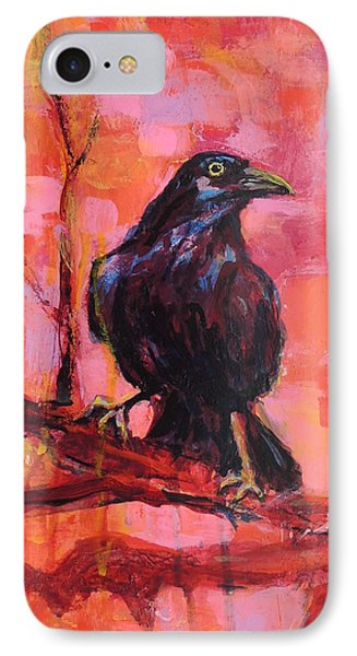 Raven Bright IPhone Case by Mary Schiros