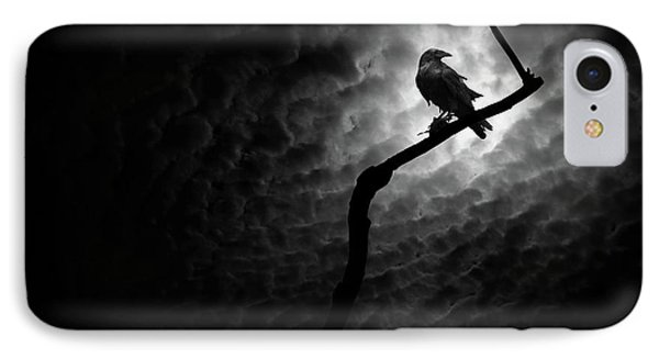 Raven, Death Valley IPhone Case by Marius Sipa