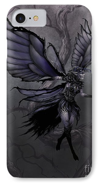 IPhone Case featuring the digital art Raven Fairy by Stanley Morrison
