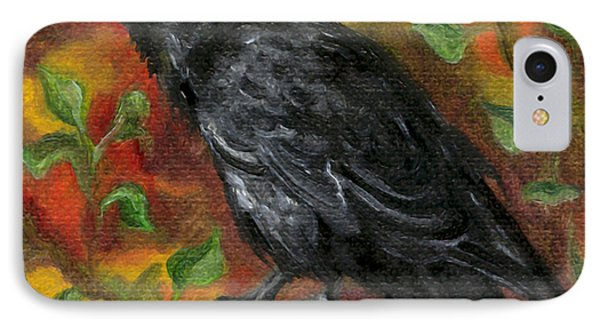 Raven In Autumn IPhone Case by FT McKinstry