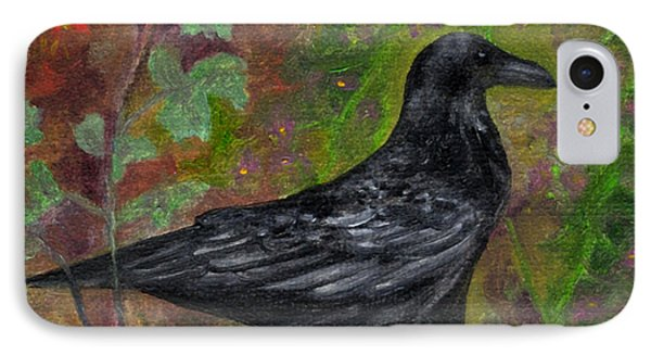 Raven In Columbine IPhone Case by FT McKinstry