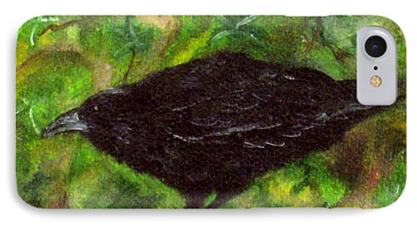 Raven In Ivy IPhone Case by FT McKinstry