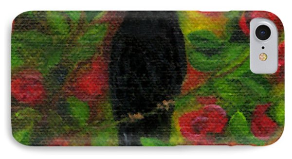 Raven In Roses IPhone Case