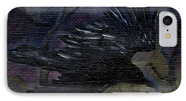 Raven In Stars IPhone Case by FT McKinstry